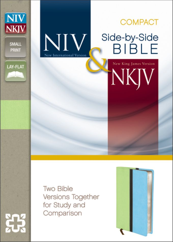 NIV, NKJV, Side-by-Side Bible, Compact,… | Zondervan Academic